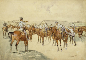 Art Prints of A Call to Arms by Frederic Remington