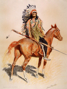 Art Prints of A Sioux Chief by Frederic Remington