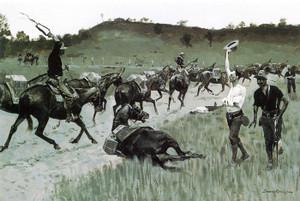 Art Prints of Battle of San Juan by Frederic Remington