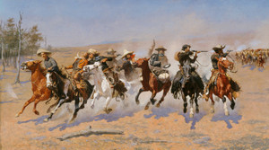 Art Prints of A Dash for the Timber by Frederic Remington