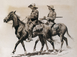 Art Prints of Cracker Cowboys in Florida, 1895 by Frederic Remington