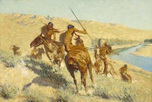 Art Prints of Episode of the Buffalo Gun by Frederic Remington