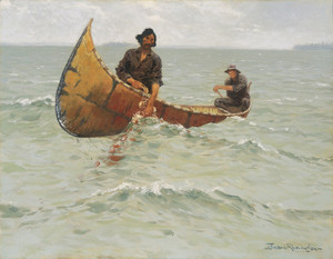 Art Prints of Hauling the Gill Net by Frederic Remington