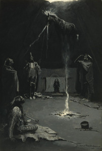 Art Prints of Indian Fire God, the Going of the Medicine Horse by Frederic Remington
