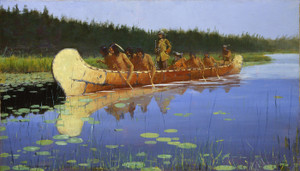 Art Prints of Radisson and Groseilliers by Frederic Remington