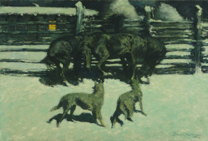 Art Prints of The Call for Help by Frederic Remington