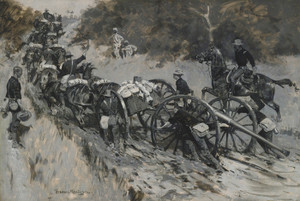 Art Prints of The Advance Guns Must Be Delivered by Frederic Remington