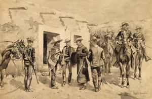 Art Prints of U.S. Cavalry Hunting Garza Men on the Rio Grande by Frederic Remington