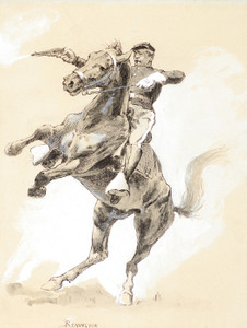 Art Prints of A Rearer, 1890, by Frederic Remington
