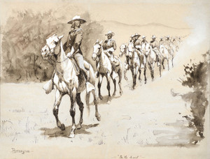 Art Prints of In the Desert, 1888, by Frederic Remington