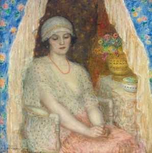 Art Prints of Blue Curtains by Frederick Carl Frieseke