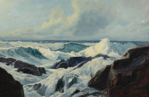 Art Prints of Massachusetts Coast by Frederick Judd Waugh