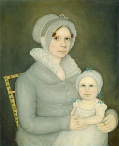 Art Prints of Mrs. John Harrison and Daughter by Frederick Mayhew