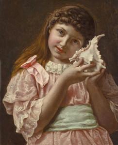 Art Prints of The Seashell by Frederick Morgan