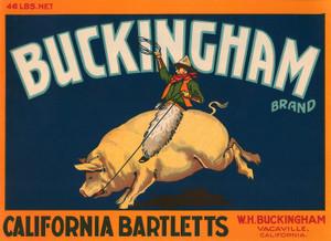 014 Buckingham California Bartletts, Fruit Crate Labels | Fine Art Print
