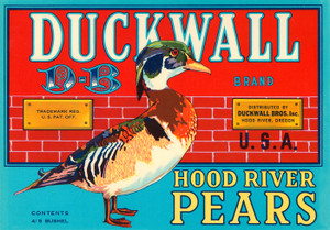010 Duckwall Brand Pears, Fruit Crate Labels | Fine Art Print