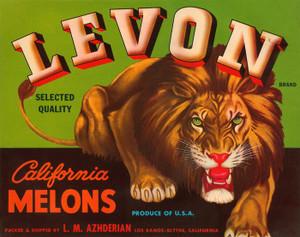 009 Levon California Melons, Fruit Crate Labels | Fine Art Print