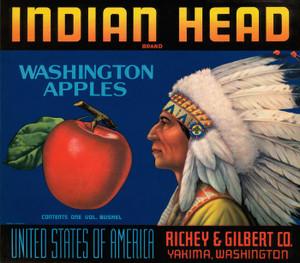 Art Prints of 049 Indian Head Washington Apples, Fruit Crate Labels