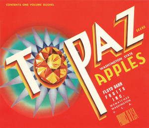 Art Prints of |Art Prints of 061 Topaz Apples, Fruit Crate Labels