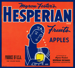Art Prints of |Art Prints of 064 Hesperian Fruits, Apples, Fruit Crate Labels