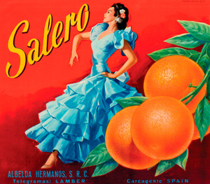 Art Prints of |Art Prints of 065 Salero Citrus, Fruit Crate Labels