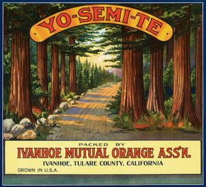 Art Prints of |Art Prints of 063 Yo-Semi-Te Oranges, Fruit Crate Labels