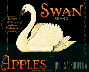 Art Prints of |Art Prints of 077 Swan Apples, Fruit Crate Labels