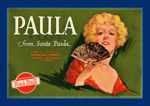 Art Prints of |Art Prints of 081 Paula Brand from Santa Paula, Fruit Crate Labels