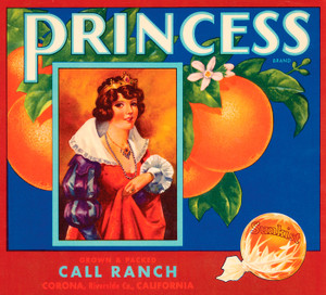 Art Prints of |Art Prints of 079 Princess, Fruit Crate Labels