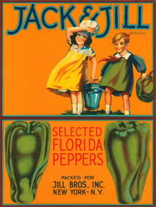 Art Prints of |Art Prints of 084 Jack and Jill Peppers, Fruit Crate Labels