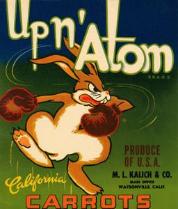Art Prints of  Art Prints of 083 Upn' Adam Carrots, Fruit Crate Labels