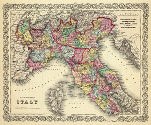 Art Prints of |Art Prints of Northern Italy, 1856 (0149085) by G.W. Colton