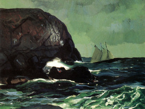 Art Prints of |Art Prints of Beating Out to Sea by George Bellows