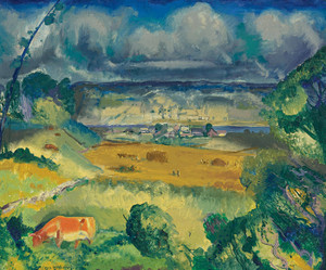 Art Prints of |Art Prints of Clouds and Meadow by George Bellows