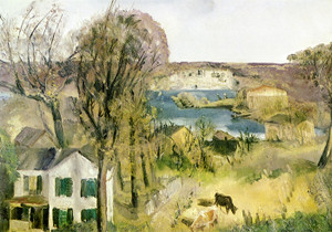 Art Prints of  Art Prints of Hudson at Saugerties by George Bellows