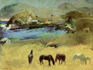 Art Prints of |Art Prints of Horses Carmel by George Bellows