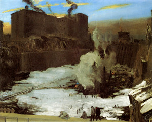 Art Prints of |Art Prints of Pennsylvania Station Excavation, 1909 by George Bellows