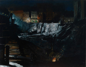 Art Prints of Excavation at Night by George Bellows