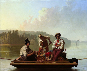 Art Prints of Boatmen on the Missouri by George Caleb Bingham