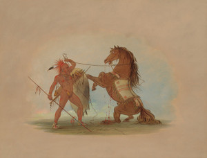 Art Prints of A Pawnee Warrior Sacrificing His Favorite Horse by George Catlin