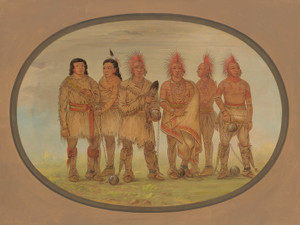 Art Prints of Black Hawk and Five Other Saukie Prisoners by George Catlin