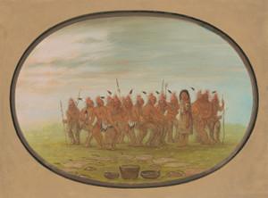 Art Prints of Dance of the Berdache Saukie by George Catlin