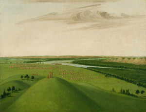 Art Prints of Fort Union Mouth of the Yellowstone River by George Catlin