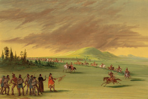 Art Prints of La Salle Meets a War party of Cenis Indians by George Catlin