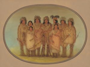 Art Prints of Nine Ojibbeway Indians in London by George Catlin