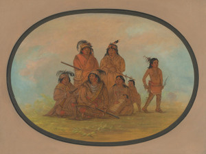 Art Prints of Seminolee Indians Prisoners at Fort Moultrie by George Catlin