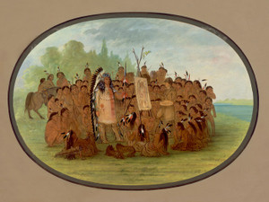 Art Prints of The Portrait of Mah To Toh Pa Madan by George Catlin