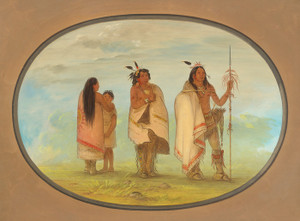 Art Prints of Weeco Chief His Wife and a Warrior by George Catlin