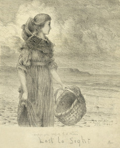 Art Prints of Lost to Sight, Woman Standing on the Prairie (23077L) by George Niles