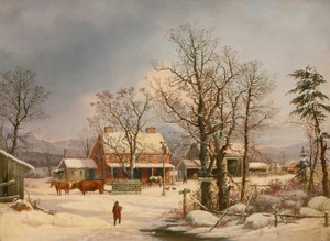 Art Prints of Road to Boston, 1861 by George Henry Durrie